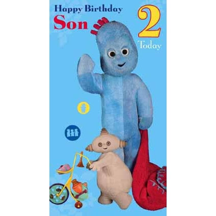 In The Night Garden Son Age 2 Birthday Greeting Card