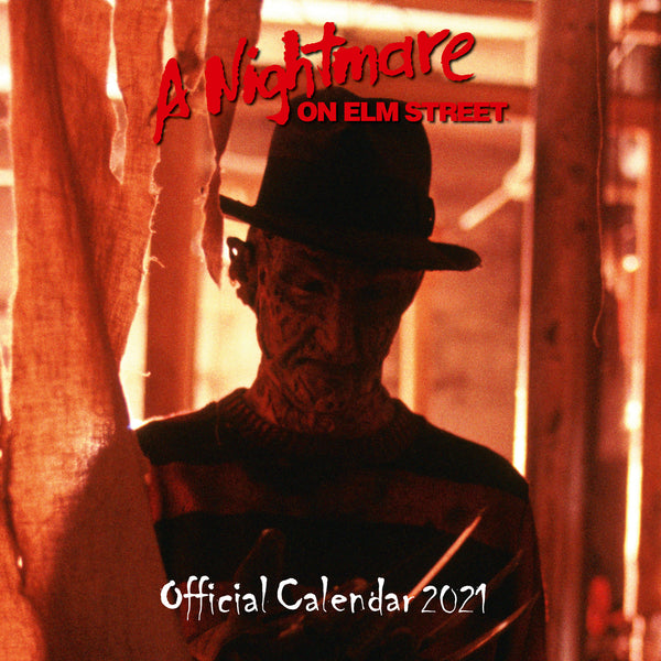 Nightmare On Elm Street Horror Square Calendar Front