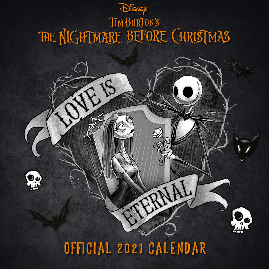 Nightmare Before Christmas Official 2021 Square Wall Calendar Front