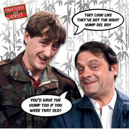 Only Fools and Horses Birthday Right Hump Card