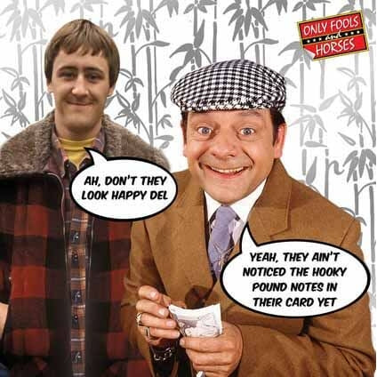 Only Fools and Horses Birthday Hooky Pound Notes Card