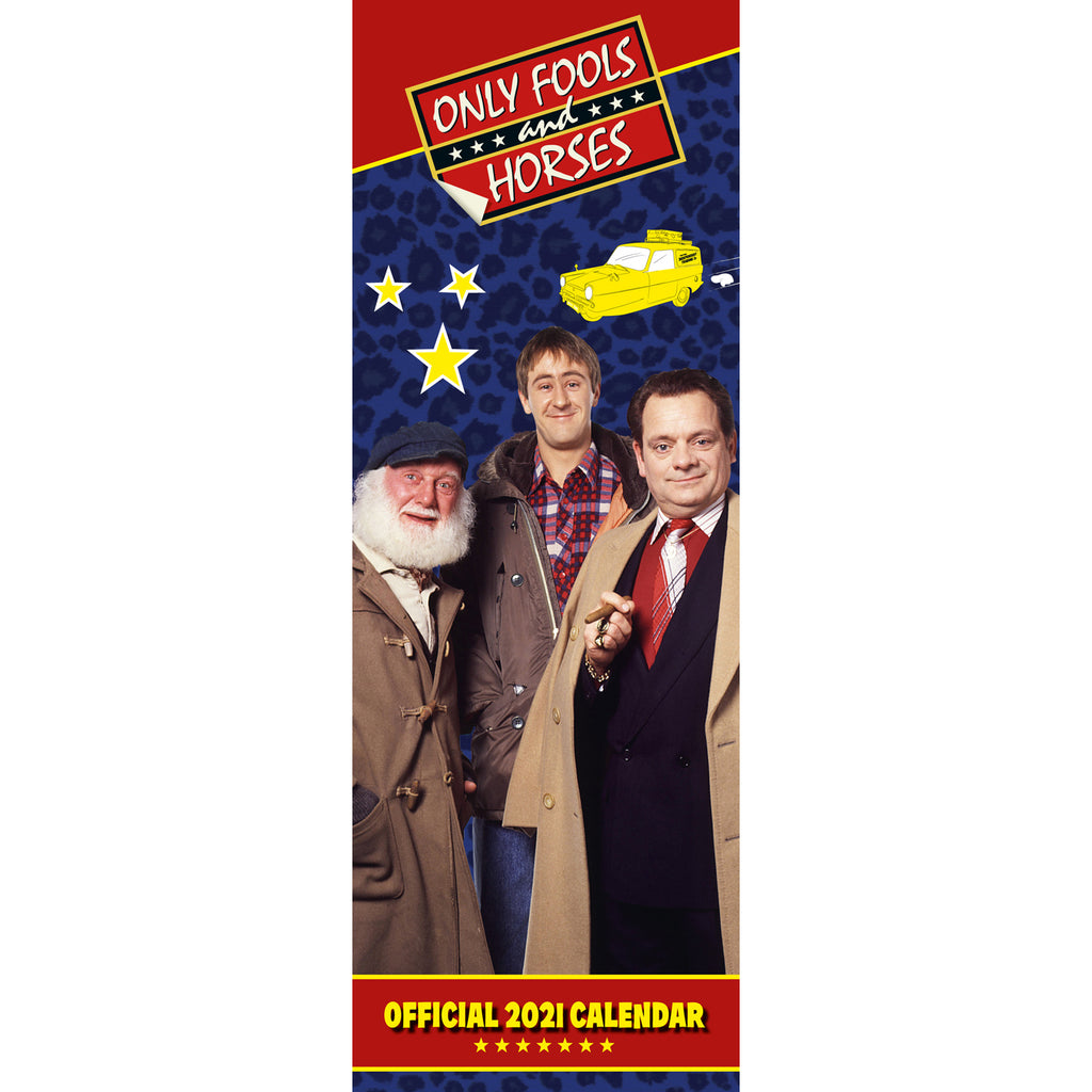 Only Fools & Horses Official 2021 Slim Calendar Front