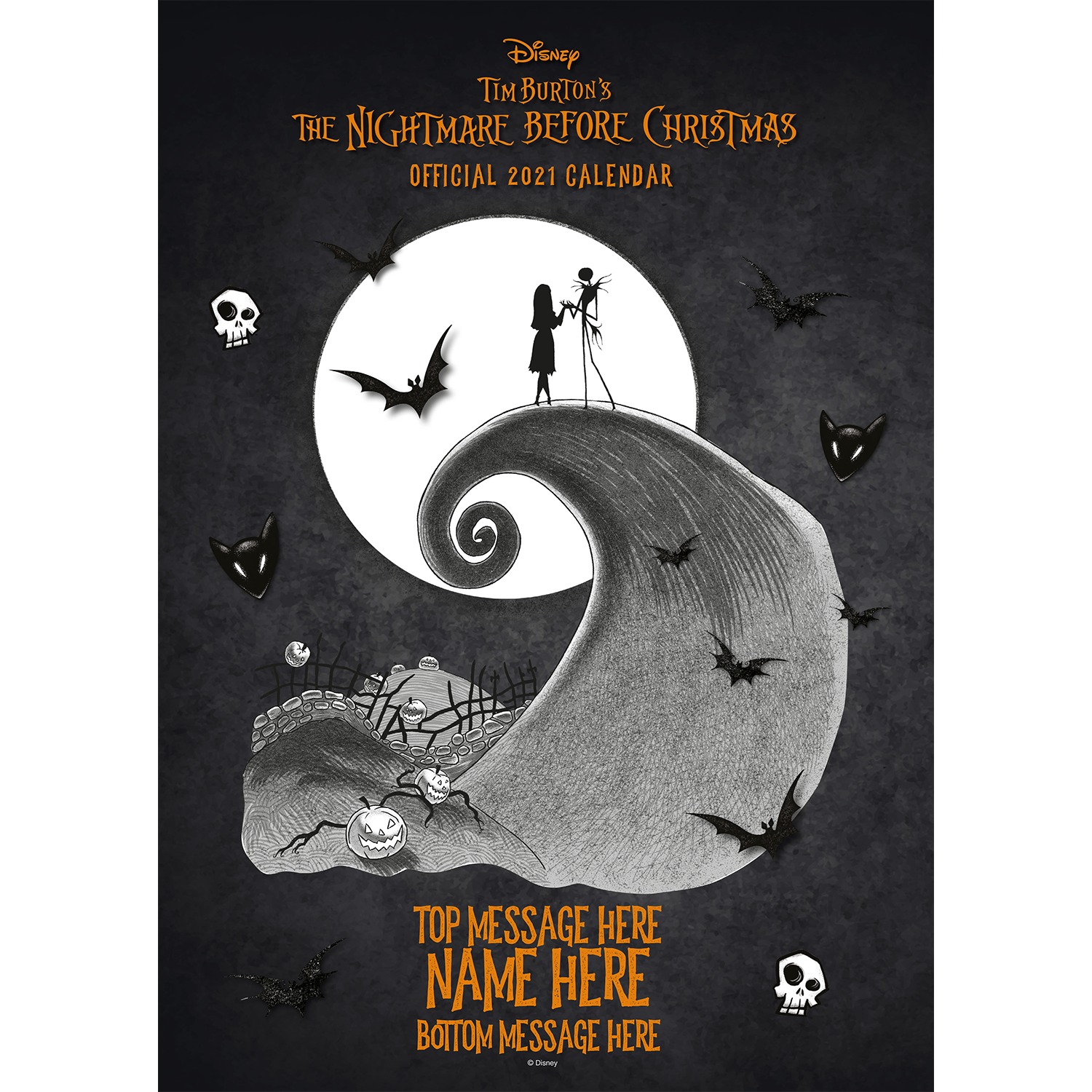 Personalised Nightmare Before Christmas 2021 A3 Wall Calendar