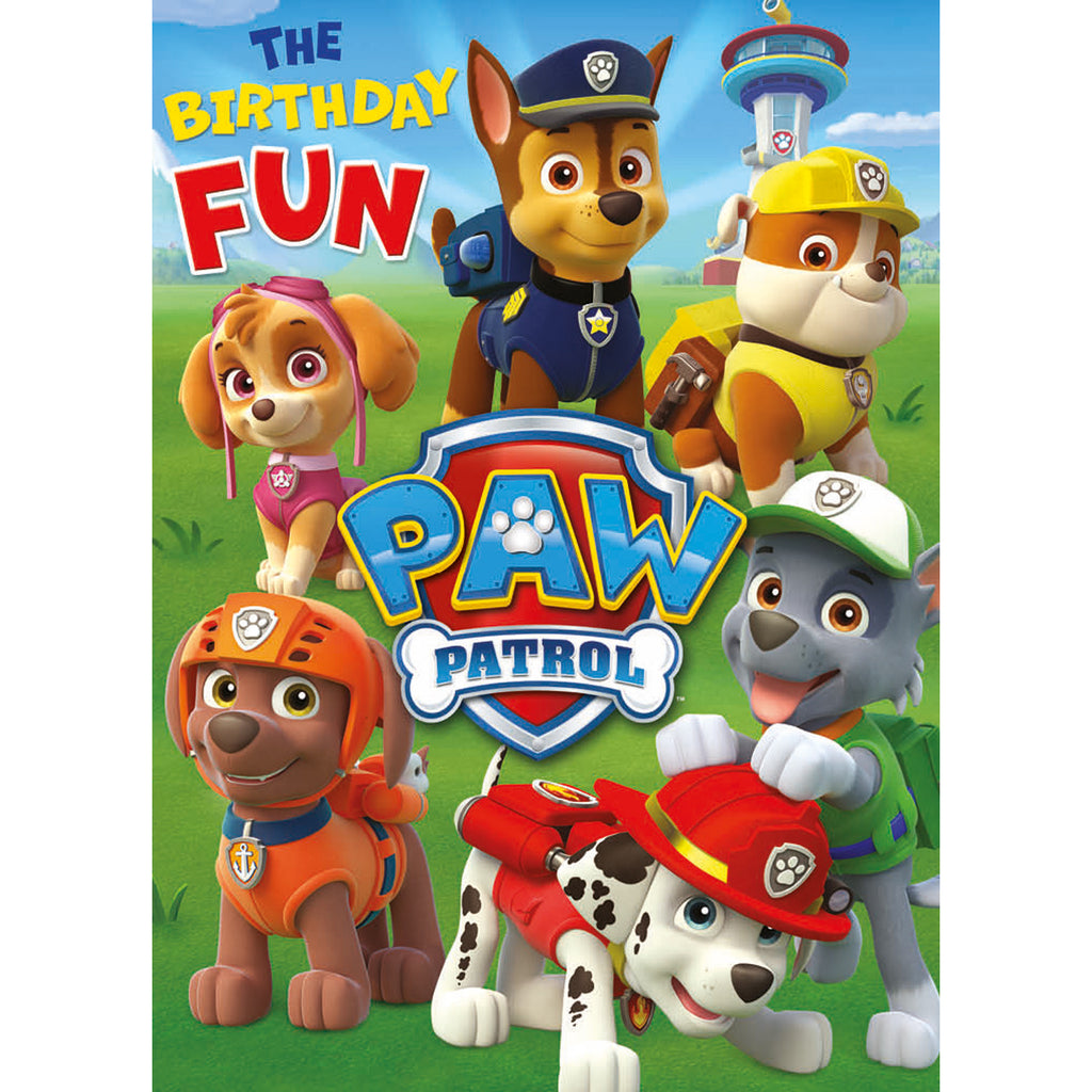 Paw Patrol Birthday Fun Card Front