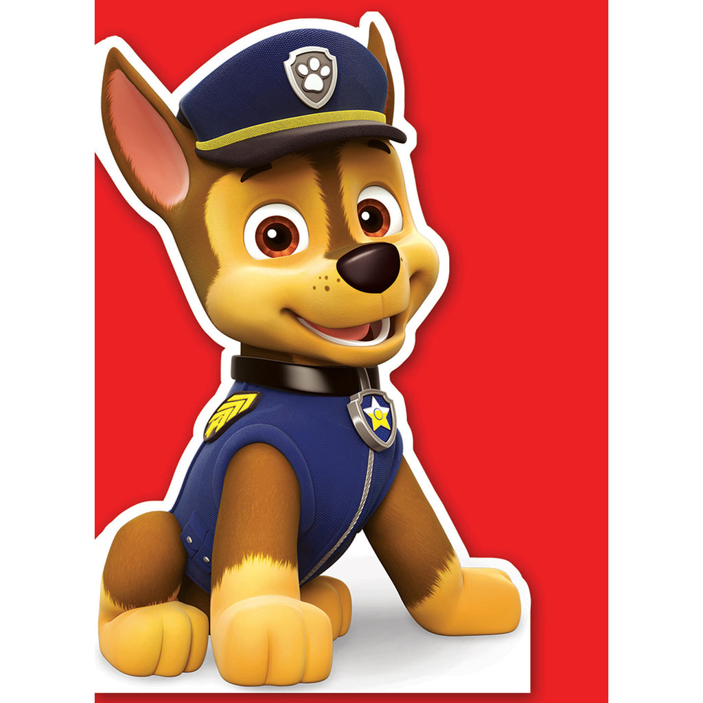 Paw Patrol Chase Die-Cut Card Front