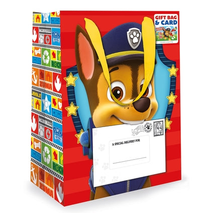 Paw Patrol Medium Gift Bag & Birthday Card