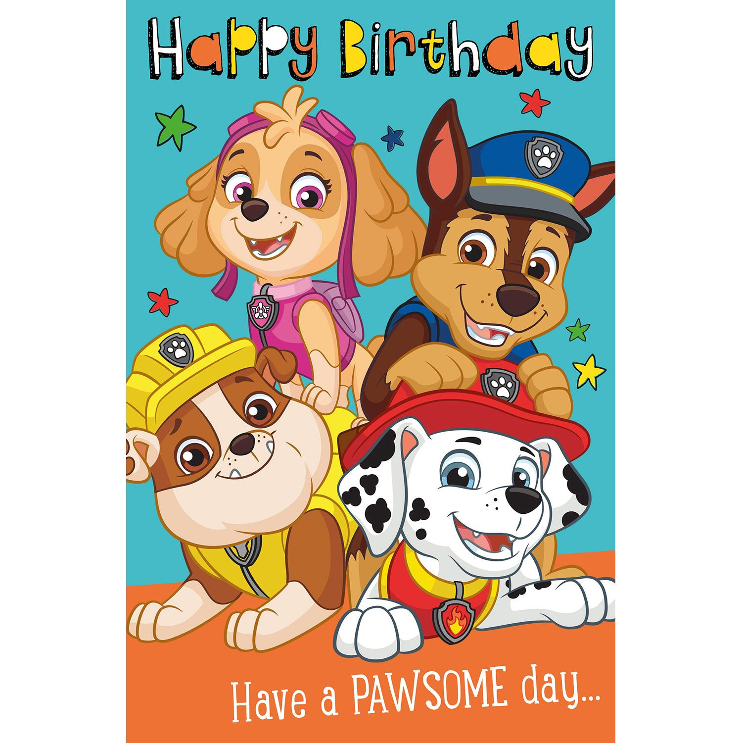 Paw Patrol Official Birthday Card, Have A Pawsome Day