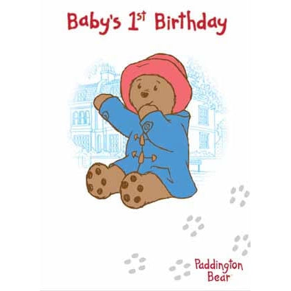 Paddington Bear Age 1 Birthday Card