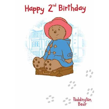 Paddington Bear Age 2 Birthday Card