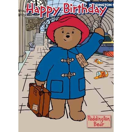Paddington Bear Happy Birthday Card