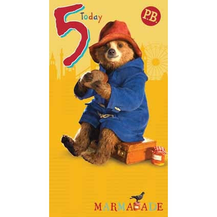 Paddington Bear The Movie Age 5 Brithday Card