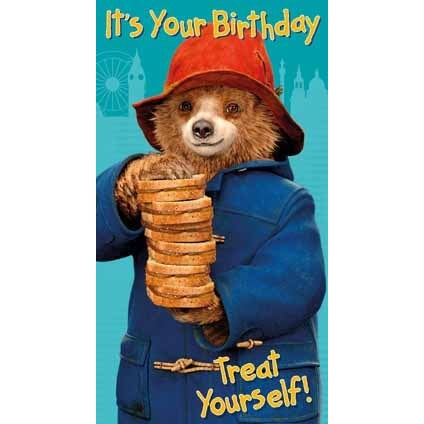 Paddington Bear The Movie Birthday Card