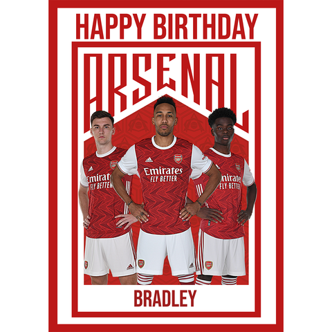 Giant Personalised Arsenal FC Birthday Card
