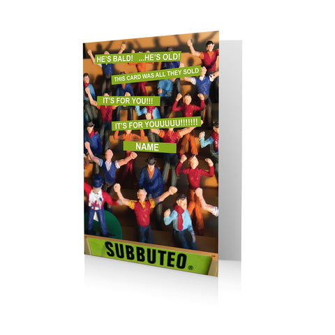 Personalised Subbuteo Birthday Card