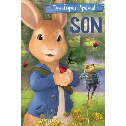 Peter Rabbit Son Pop-Up Birthday Card