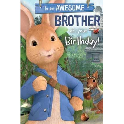 Peter Rabbit Brother Birthday Card