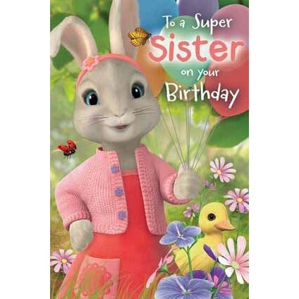 Peter Rabbit Sister Birthday Card