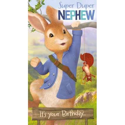 Peter Rabbit Nephew Birthday Card