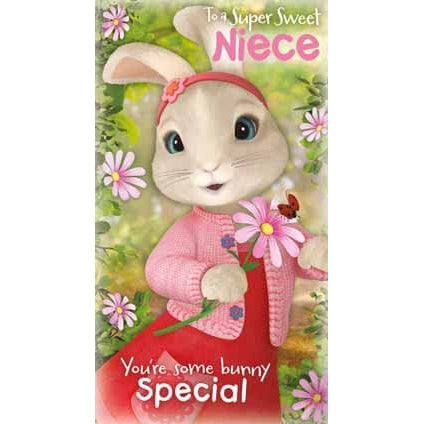 Peter Rabbit Niece Birthday Card