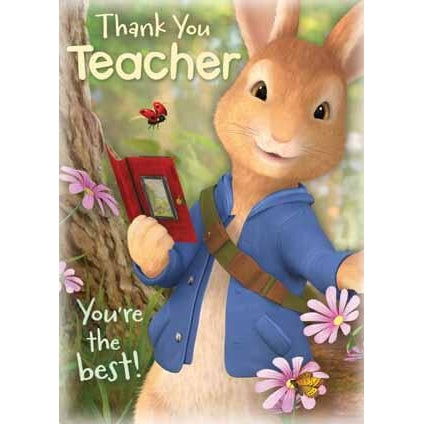 Peter Rabbit Thank you Teacher Card