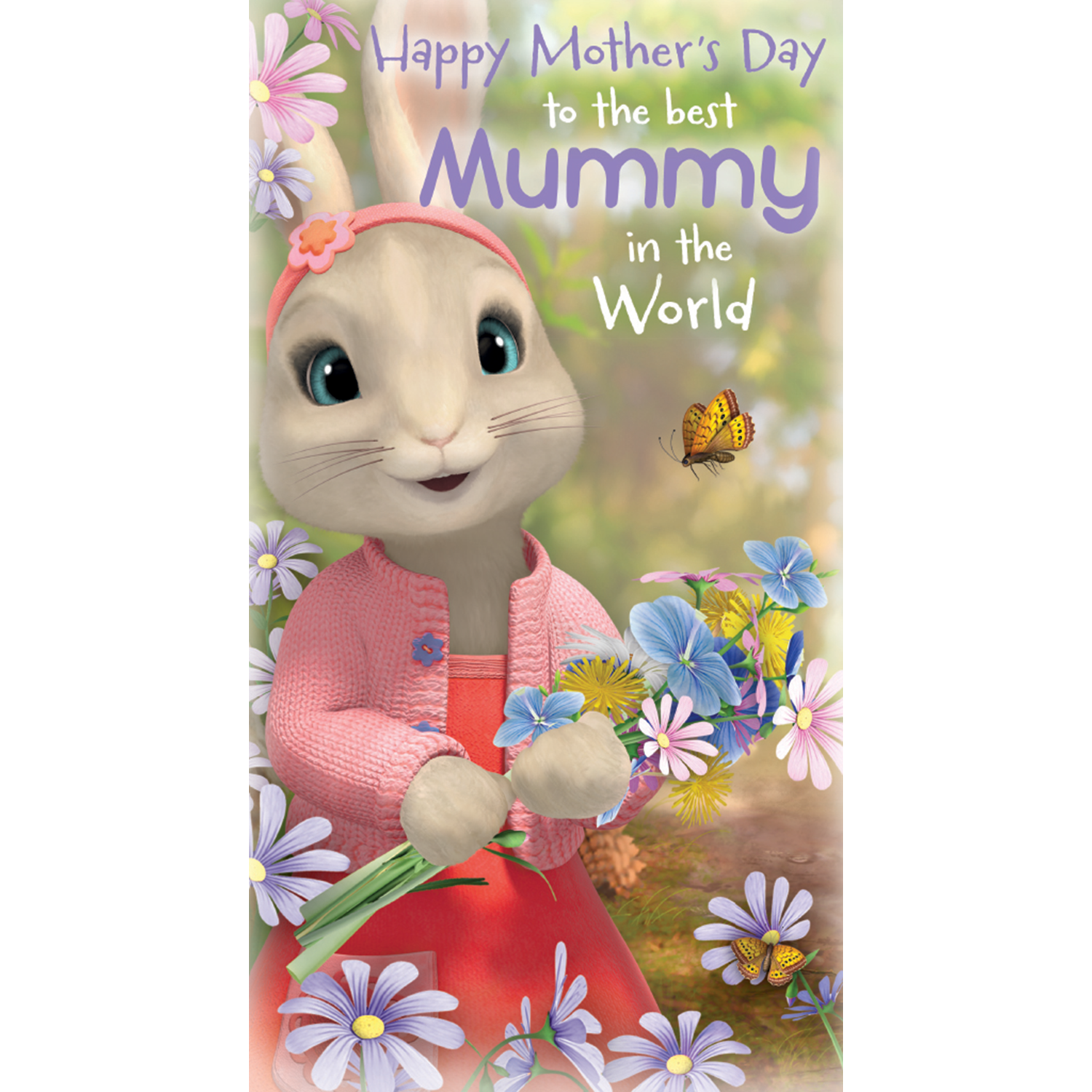 Official Peter Rabbit 'Best mummy in the world' Mother's Day Card