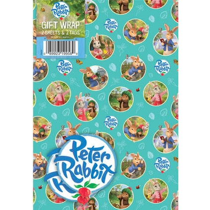 Peter Rabbit Wrapping Paper 2 Sheet and Tag Pack