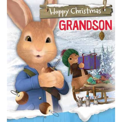 Peter Rabbit Grandson Christmas Card