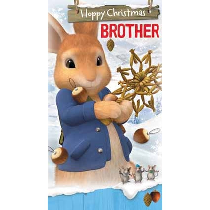 Peter Rabbit Brother Christmas Card