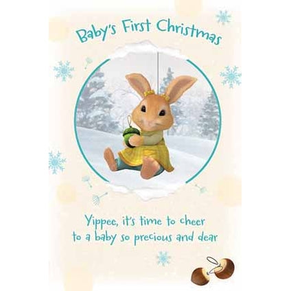 Peter Rabbit Baby's First Christmas Card