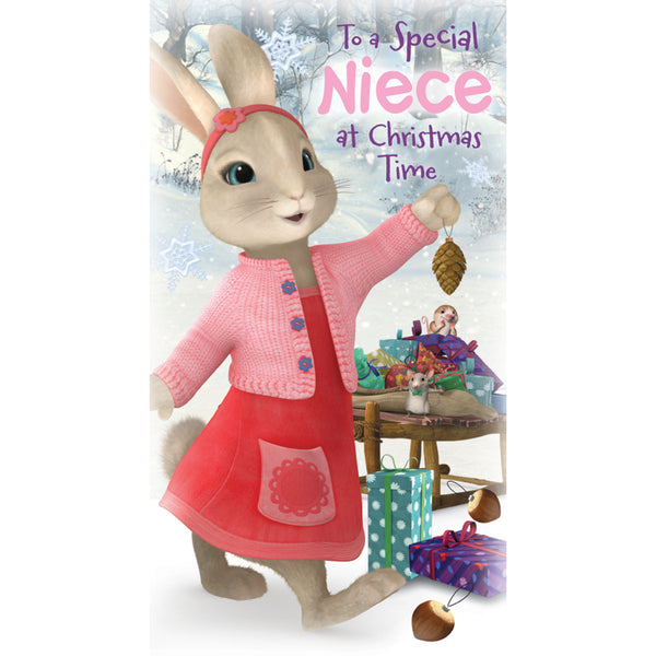 Peter Rabbit Niece Christmas Card Front