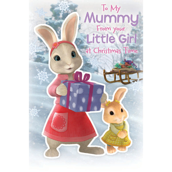 Peter Rabbit Mummy Christmas Card Front