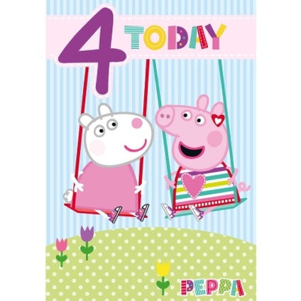 Peppa Pig Official 4-Year-Old Birthday Card