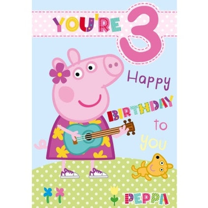 Peppa Pig Official 3-Year-Old Birthday Card