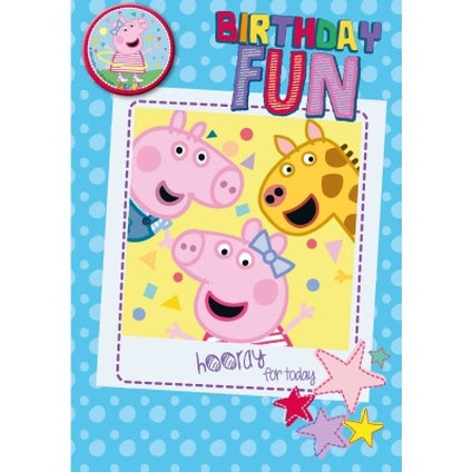 Peppa Pig Official Birthday Fun Card & Badge