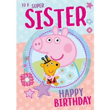 Peppa Pig Official Sister Birthday Card