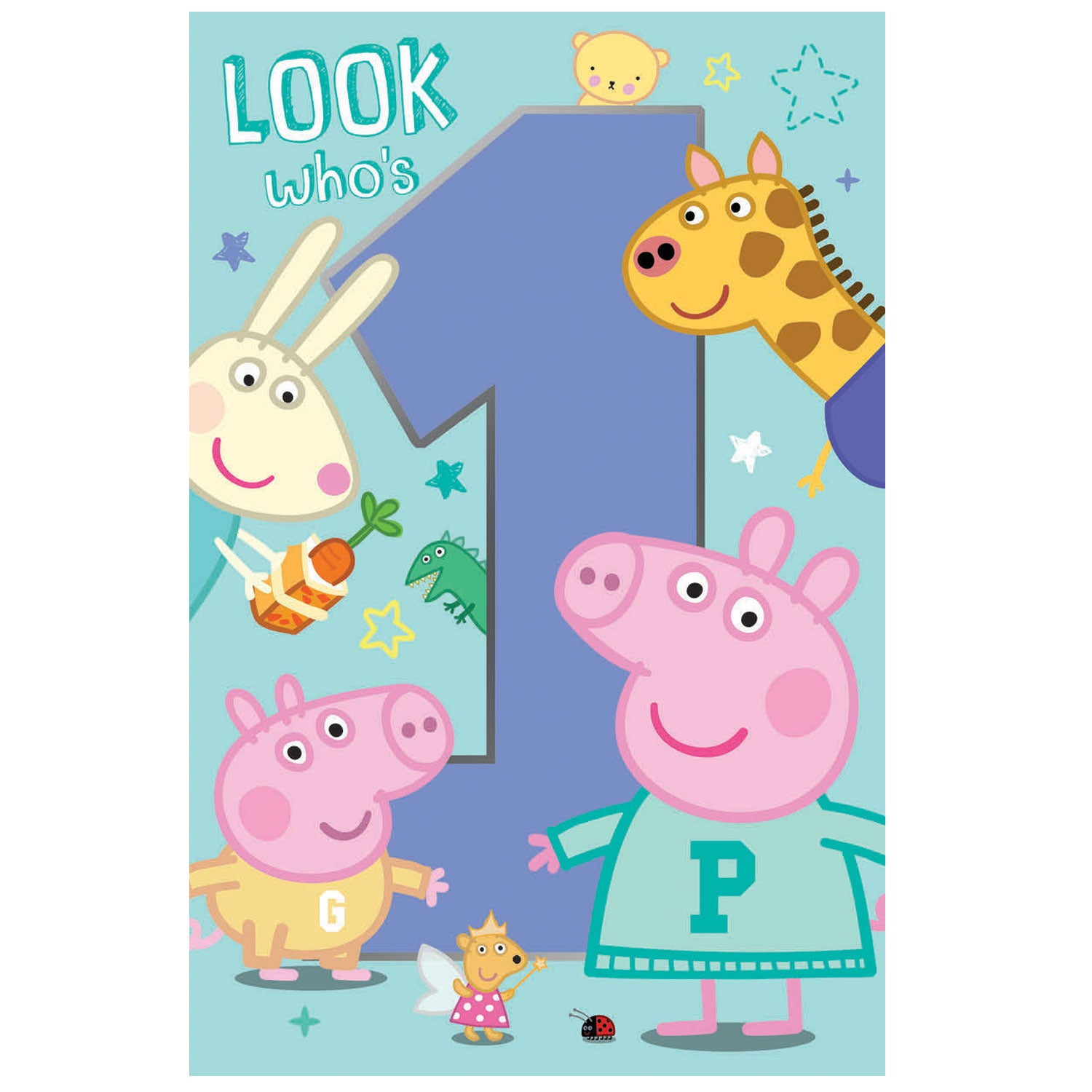 Pegga Pig And George Age 1 Birthday Card
