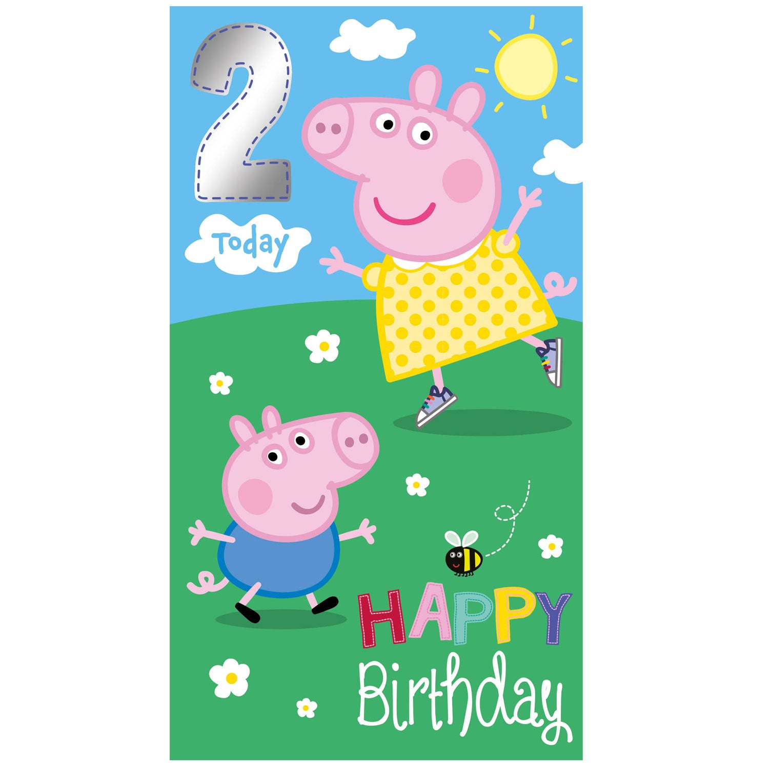Peppa Pig Age 2 Happy Birthday Card