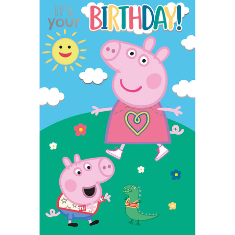 Peppa Pig It's Your Birthday Card