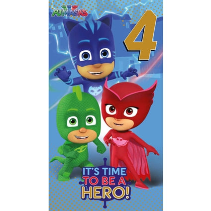 PJ Masks Official 4-Year-Old Birthday Card