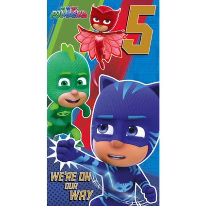 PJ Masks Official 5-Year-Old Birthday Card
