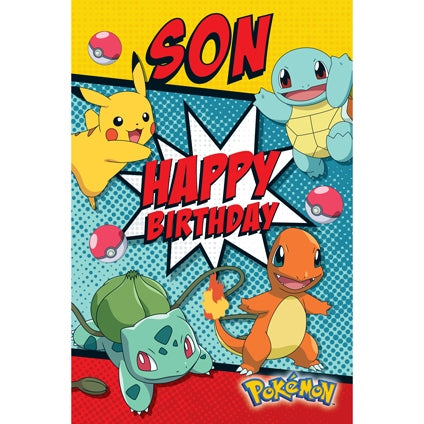 Pokemon Official Son Happy Birthday Card