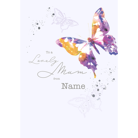 Giant Animal Planet Butterfly Mother's day Card