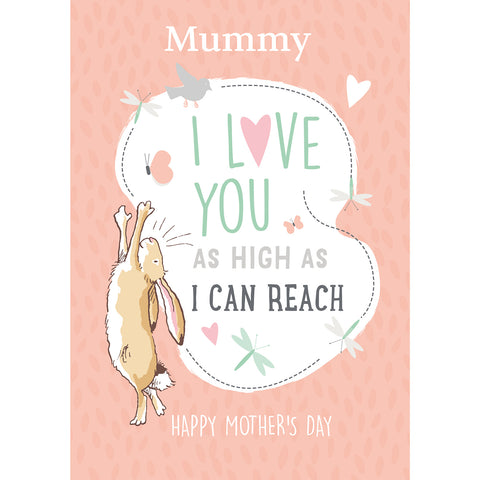 Personalised Guess How Much I Love You 'As high as I can reach' Mother's Day Card