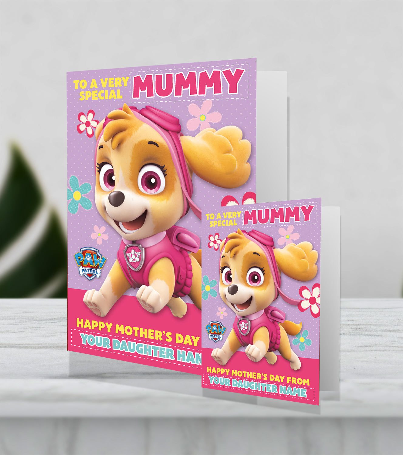 Giant Personalised Paw Patrol 'Very Special Mummy' Mother's Day Card