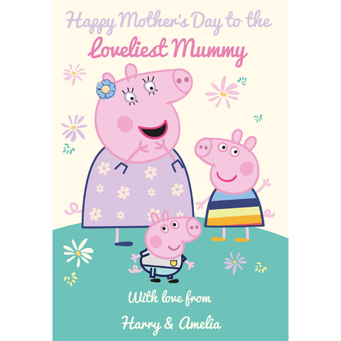 Giant Personalised Peppa Pig Mothers Day Card