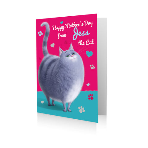 Personalised Secret Life Of Pets 'From the Cat' Mother's Day Card