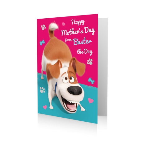 Personalised Secret Life Of Pets 'From the Dog' Mother's Day Card