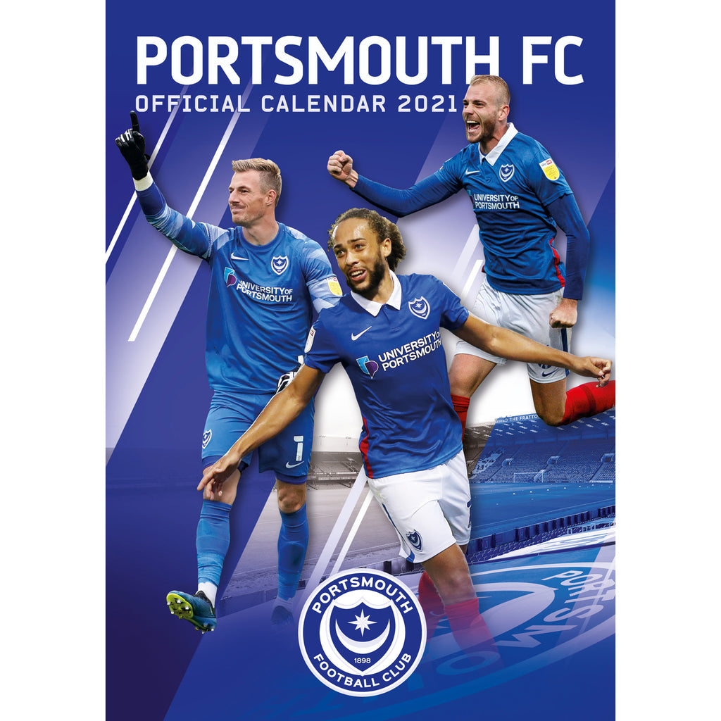 Portsmouth FC 2021 A3 Wall Calendar Front