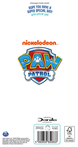 Paw Patrol Father's Day Card