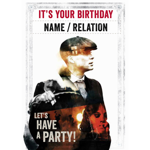 Peaky Blinders Personalised Its Your Birthday Card Front